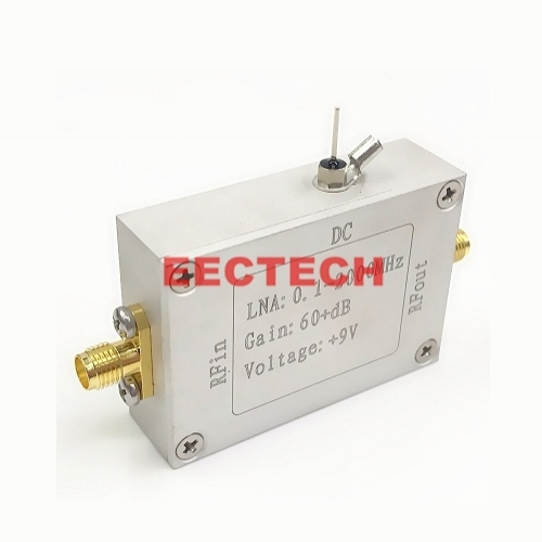 RF high gain small signal amplifier (0.1-2000MHz 64dB)