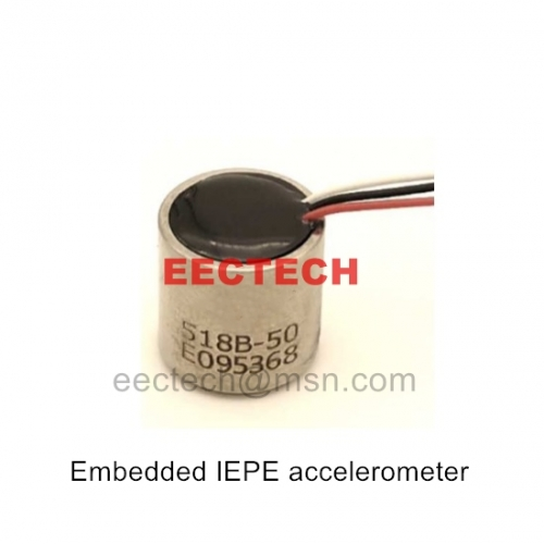 Embedded IEPE accelerometer,518B-50,Applied to Embedded monitoring,Shock recorder,Modal analysis,Machine monitoring