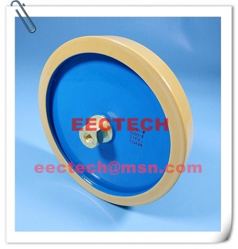 CCG81-8, 1500PF, 25KVDC, M8 disc type ceramic capacitor