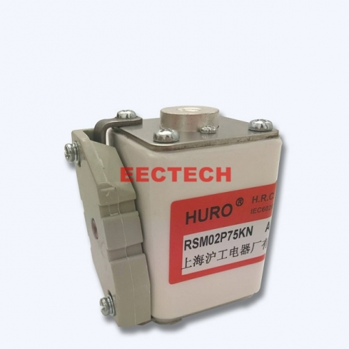 P-type square plate type fast fuse with filler,RSM02P75KN fuse,huro fuse