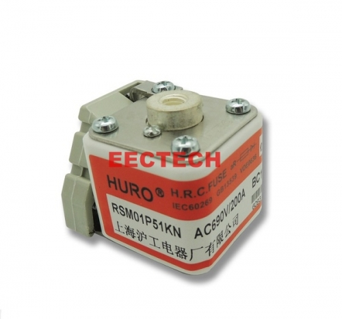 P-type square plate type fast fuse with filler,RSM01P51KN fast fuse,huro fast fuse