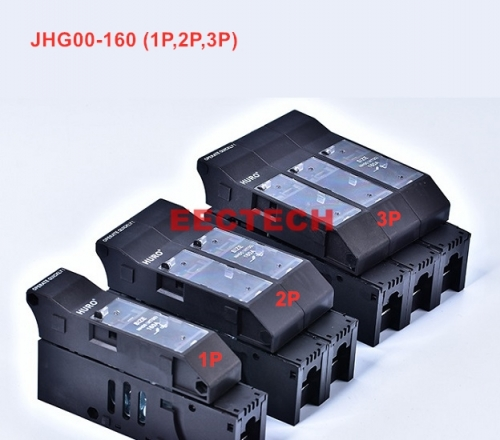 JHG00-160 3P fuse isolation switch,AC400/690V-160/100A