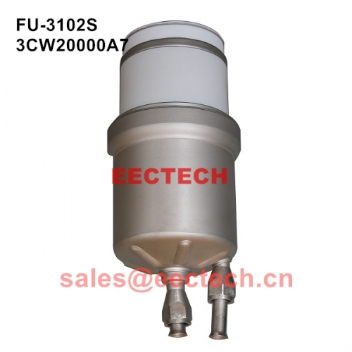 3CW20000A7, Water-cooled triode, High frequency amplification tube FU-3102S equivalent