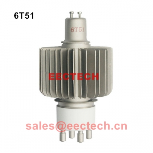 6T51 Air-cooled triode,Industrial high frequency heating equipment