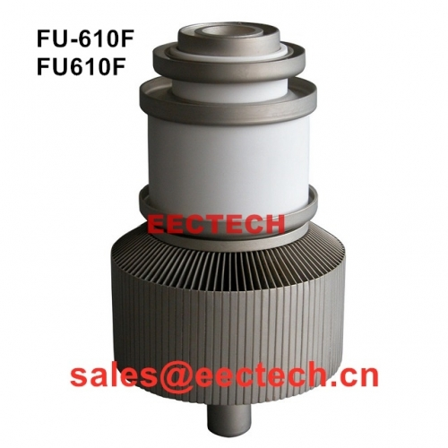 FU-610F,FU-610FA triode, high magnification medium power, used as power source in 3~5 kW high frequency heating equipment