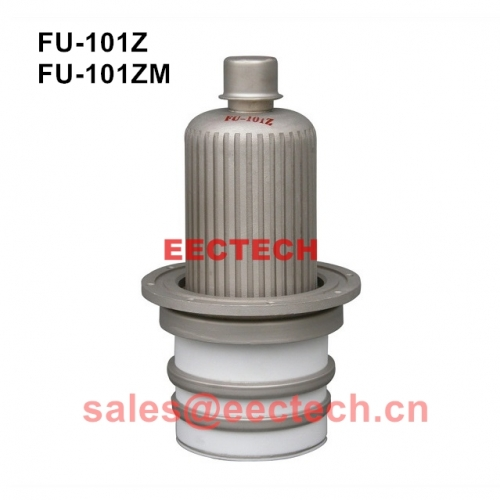 FU-101Z anode air-cooled tetrode, used in radio equipment for low frequency amplification