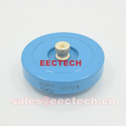 CCG81-1, 100PF, 15KVDC, 60KVA plate capacitor, disc capacitor, DT60 RF capacitor