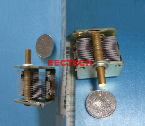 single joint air variable capacitor ECB-1-400, 14pF~400pF/0.5KVdc single-joint adjustable air capacitor 1 piece