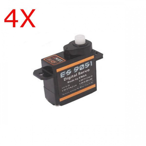 4Pcs Emax ES9051 Digital Mini Servo Motor For RC Model