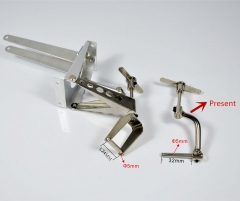 Tail wheel Rack System Landing Gear Metal Rise shrinkage For 50-100CC Plane