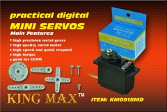1pc Kingmax Analog metal Gears Mini Servo KM0918MD DC4.8V~6.0 V JR /Futaba 150 mm