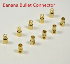 10 Pairs Gold Plated Male & Female Bullet Connector (2mm~8mm)