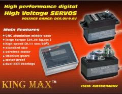 KINGMAX KM5521MD Digital Servo,metal gears standard servo 40.5X20.2X44.2mm