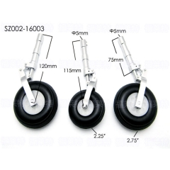 3pcs/set RC Airplane SZ002-16003 Alloy Undercarriage Anti-vibration Landing Gear