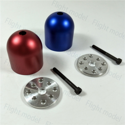 1pc 1.75''/44.5mm 2 Blades Scale Drilled Aluminum Spinner For DLE30/55 EME55 MLD35 2colors