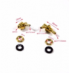 1 Pair Of Flight Model Transparent Fuel Tank Parts Outlets Inlets Oil Nozzle