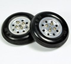 "2pcs Of High Quality RC Parts Soft Rubber Wheel Tire With Aluminum Hub 1.75"" 2.5"" 3"" 3.5"" 4"" 4.5"""