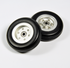 Rubber Tires Wheel with Aluminum Alloy Hub ( 2/2.5/3/3/3.5/4inch)