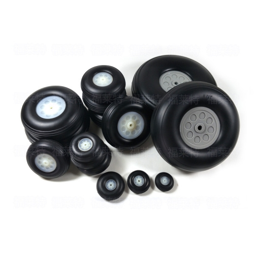 1 Pair of 1/1.25/1.5/1.75/2/2.25/2.5/2.75/3/3.25/3.5/3.75/4/4.5/5/5.5/6/7inch PU Wheels Tires with Plastic Hub for RC Airplane