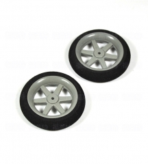 1 Pair of Light Foam Tail Sponge Wheels 30mm 35mm 40mm 45mm 50mm For RC Remote Control Airplane Model Replacement Parts