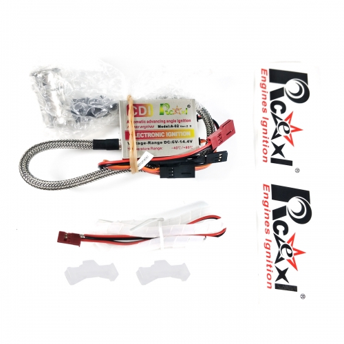 RCEXL Automatic Electric Single Ignition CDI for NGK BPMR6F 14mm 90 Degree with Universal Hall Sensor