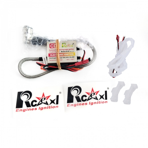 RCEXL Automatic Electric Single Ignition CDI for NGK CM6 10mm 90 Degree with Universal Hall Sensor