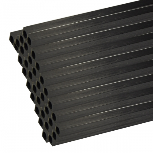 5pcs Carbon Fiber Square Tube with Round Hole 500mm Length for RC Model 3*2mm 4*2.5mm 5*3mm 10*8.5mm