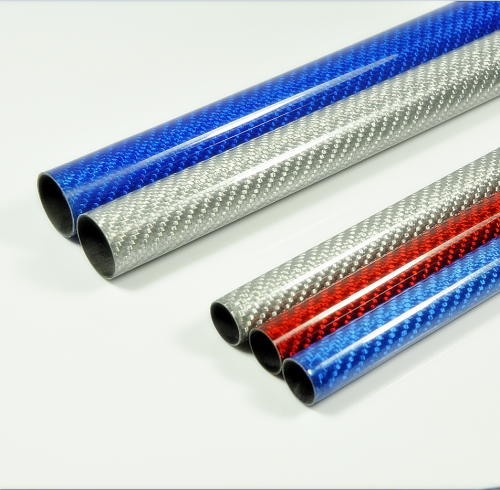 2pcs 500mm Carbon Fiber Tube 3K Plain Weave Glossy Surface ID OD 8mm 10mm 12mm 14mm 16mm 18mm 20mm 21mm 22mm 24mm 26mm 28mm 30mm Red/Blue/Silver