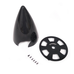 ZYHOBBY 3.5inch Cone Carbon Fiber Spinner Glossy Surface w/ Alu Back Plate