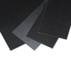 Carbon Fiber Plate/Panel/Sheet 3K Plain Weave Glossy 0.5mm Thickness for RC Model Airplane