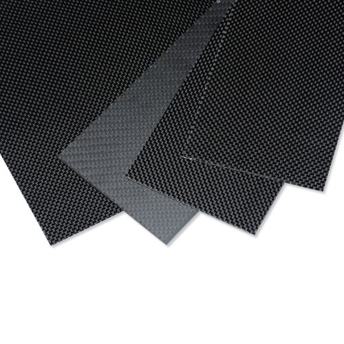 Carbon Fiber Plate/Panel/Sheet 3K Plain Weave Glossy 1mm Thickness for RC Model Airplane