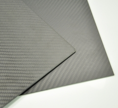 Carbon Fiber Plate/Panel/Sheet 3K Plain Weave Matte 2.0mm Thickness for RC Model Airplane