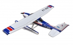 High Quality Balsa Wood Amphibious Cessna 182 RC Airplane Model 1720mm Wing Span 60 Class Glow Electric With Float Blue/ Red