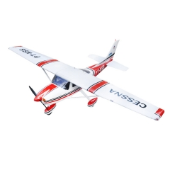 Amphibious Cessna-182 67.3inch/1720mm RC Airplane Model 60 Class Glow Electric Gasoline Aircraft With Sea Float Blue/ Red