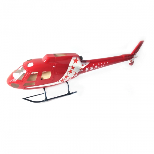 450 Size AS350 Scale Glass Fiber Helicopter Fuselage Ecureuil Airzermatt/ERA