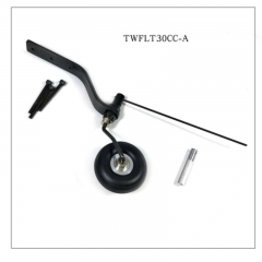 Carbon Fiber Tail Wheel kit A1 w/ 1.5inch PU Wheel for 30cc Plane- US Stock