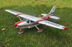 "67.3""/1720mm CESSNA-182 60 Wing area:40sq.dm RED RC plane toy in US"
