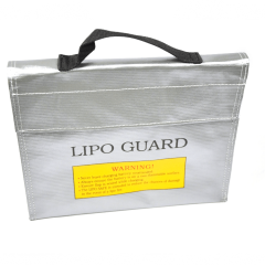 Fireproof 23.5 x18 x 6.5cm RC Lipo Battery Safe Bag
