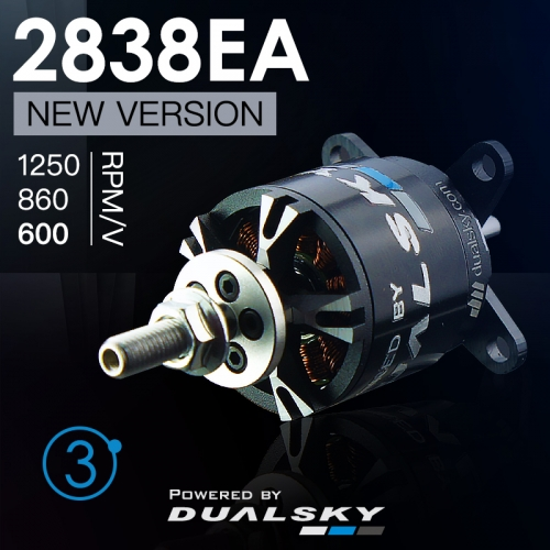 DUALSKY XM2838EA Version 3 RC Model Burshless Motor 1250/860/600kv