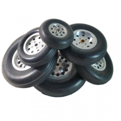 1Pair Durable Rubber Wheels for RC Plane - Size 1.7~4.5inch to Pick