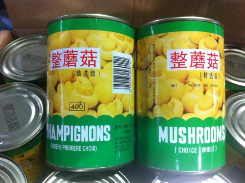 Canned Champignon Mushrooms Whole