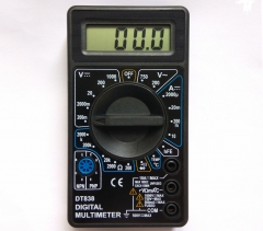 Digital Multimeter DT-838 with temperature and short circuit function test.