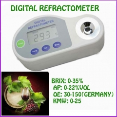 Pocket Digital Refractometer 0-35% brix,0-22%VOL,30-150 Oe Special for Grape Wine