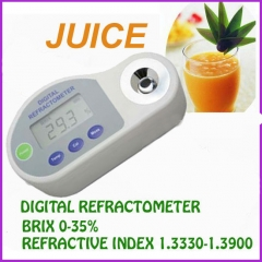 Pocket Digital Refractometer for brix 0-35%,REFRACTLYINDEX:1.3330-1.3900