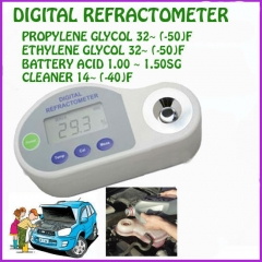 Pocket Digital Refractometer antifreeze,battery,cleaning liquid With Fahrenheit scals