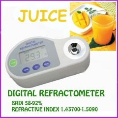 Pocket Digital Refractometer 58-92%brix,REFRACTIVE INDEX:1.4370-1.5090