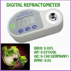 Pocket Digital Refractometer for Grape Wine 0-35% brix,0-22%VOL,0-150 Oe