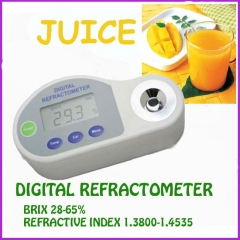 Pocket Digital Refractometer 28-65%brix,REFRACTIVE INDEX:1.3800-1.4535
