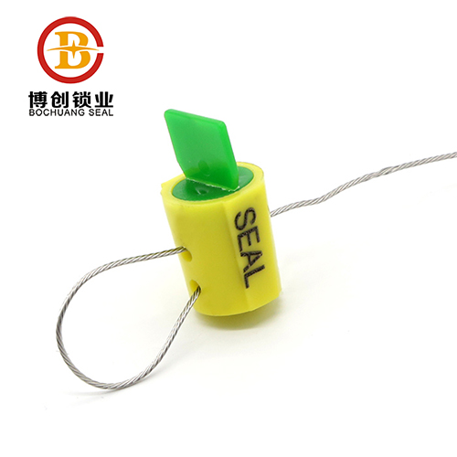Plastic twist meter seal with wires