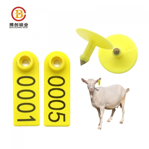 Hot sale animal identification mark livestock ear tags for sheep goat lamb